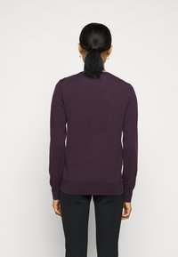 Tory Burch - COLOR BLOCK MADELINE CARDIGAN - Cardigan - festive dark purple - 2