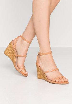 BARTON - High heeled sandals - nude