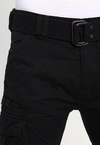 Schott - TRRANGER - Cargo trousers - black - 3