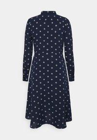 Lauren Ralph Lauren Petite - KAHWELL LONG SLEEVE CASUAL DRESS - Shirt dress - french navy/pale cream - 1