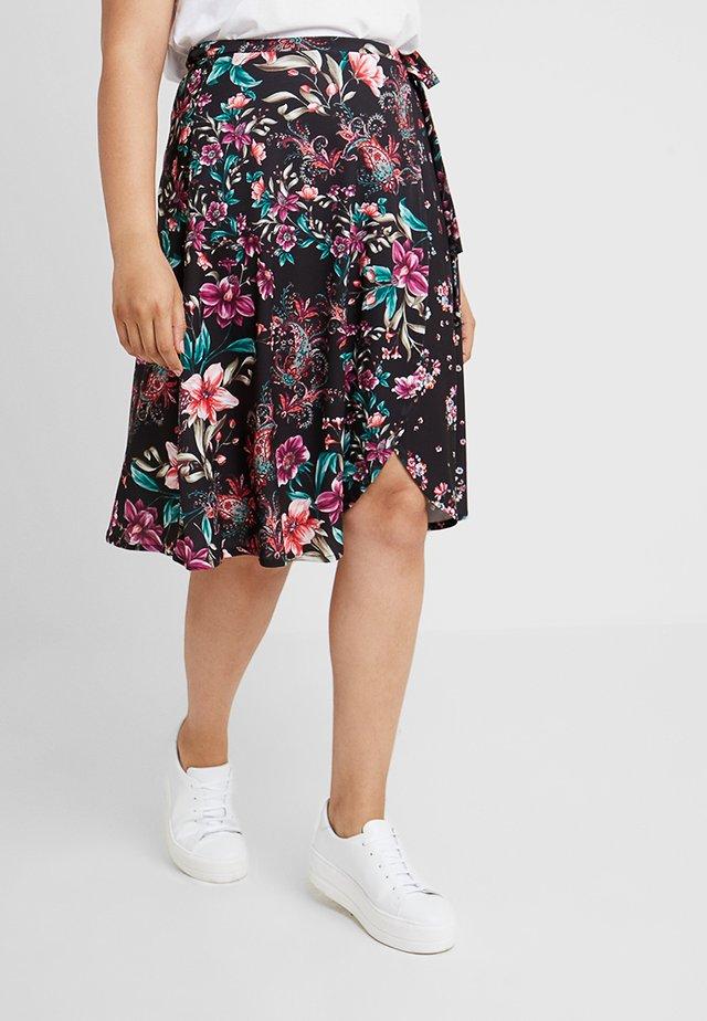Áčková sukně - black/pink