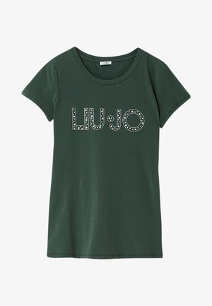 Print T-shirt - forest green