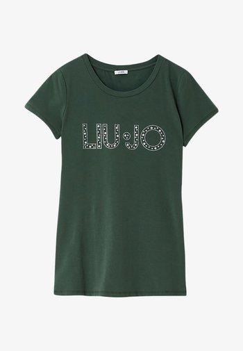 Print T-shirt - forest green