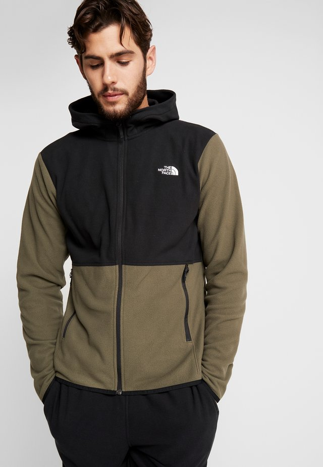GLACIER FULL ZIP HOODIE - Fleecejakke - new taupe green/black