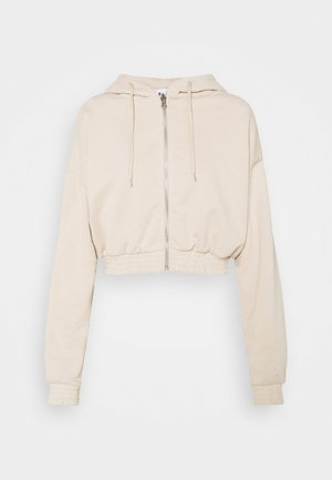 ZIP DETAIL HOODIE - veste en sweat zippée - beige
