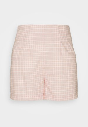 SEERSUCKER - Shorts - peach grid