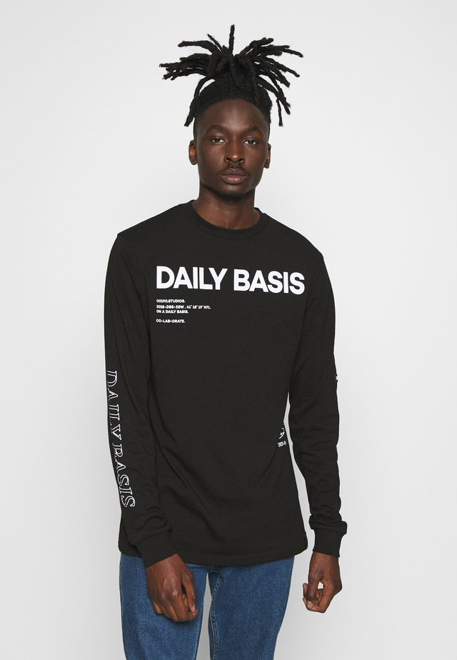 DAILY BASIS LONG SLEEVE - T-shirt à manches longues - black