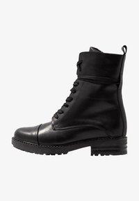 Zign - Šněrovací kotníkové boty - black - 1