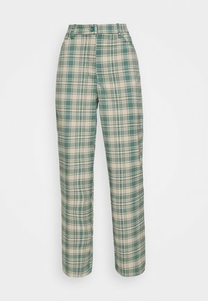 SIMONE TROUSERS - Tygbyxor - green medium/dusty unique