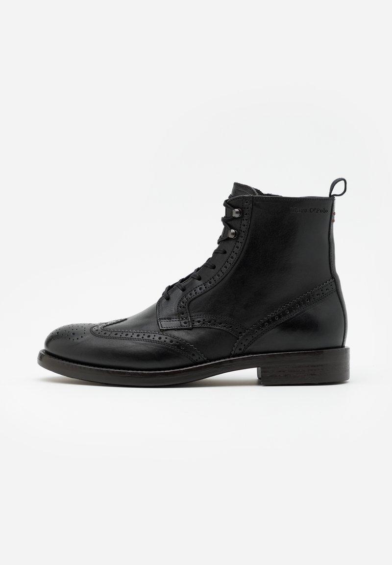 Marc O'Polo - LACE UP BOOT - Šněrovací kotníkové boty - black