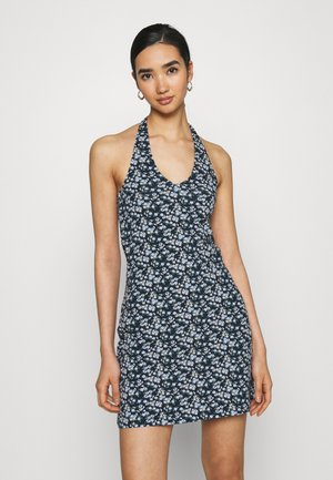 WEBEX HALTER SHORT DRESS - Pouzdrové šaty - navy ground