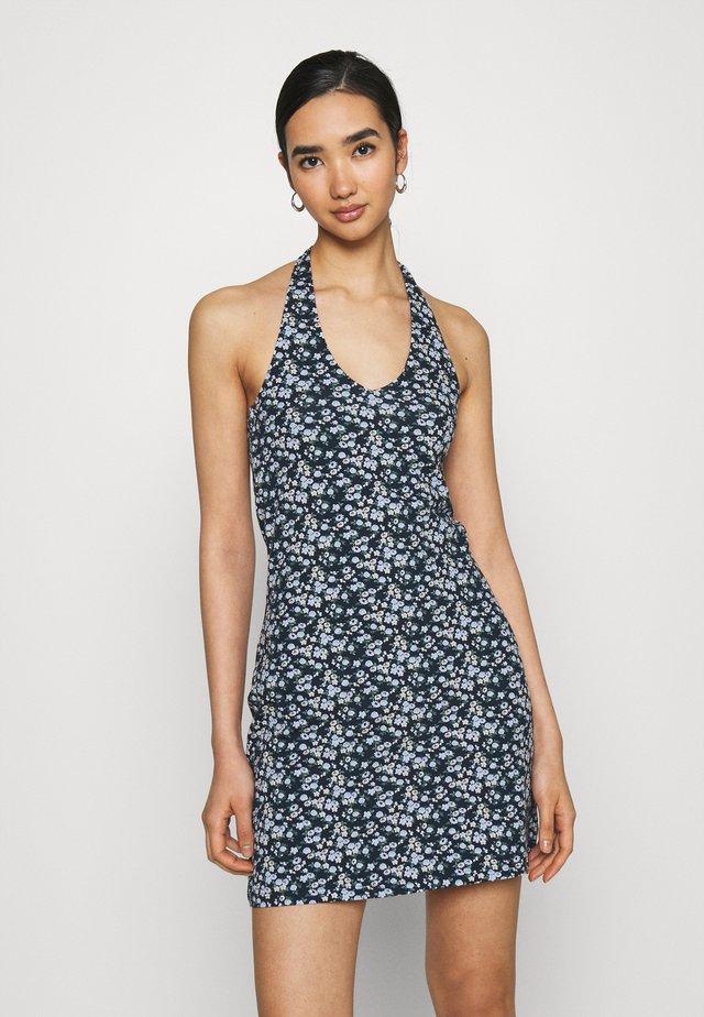 WEBEX HALTER SHORT DRESS - Sukienka etui - navy ground