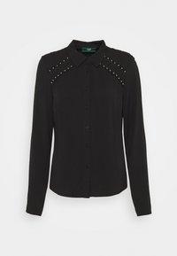 Guess - ROCCA SHIRT - Button-down blouse - jet black - 0