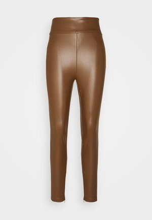 PRISCILLA  - Leggings - Trousers - brown leaf