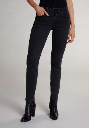 Slim fit jeans - darkgrey denim