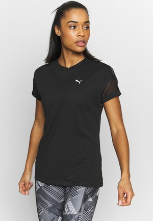 FEEL IT LOGO TEE - Print T-shirt - black
