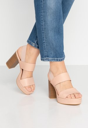 AVA PLATFORM - High heeled sandals - ash rose