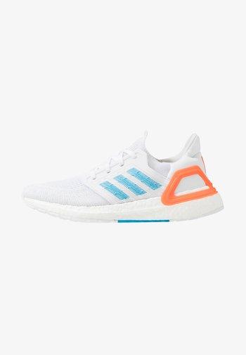 ULTRABOOST 20 - Neutral running shoes - footwear white/sharp blue/true orange