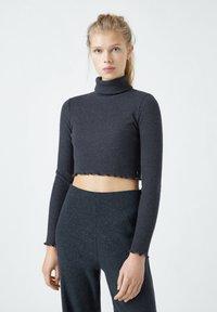 PULL&BEAR - Langærmede T-shirts - black - 0