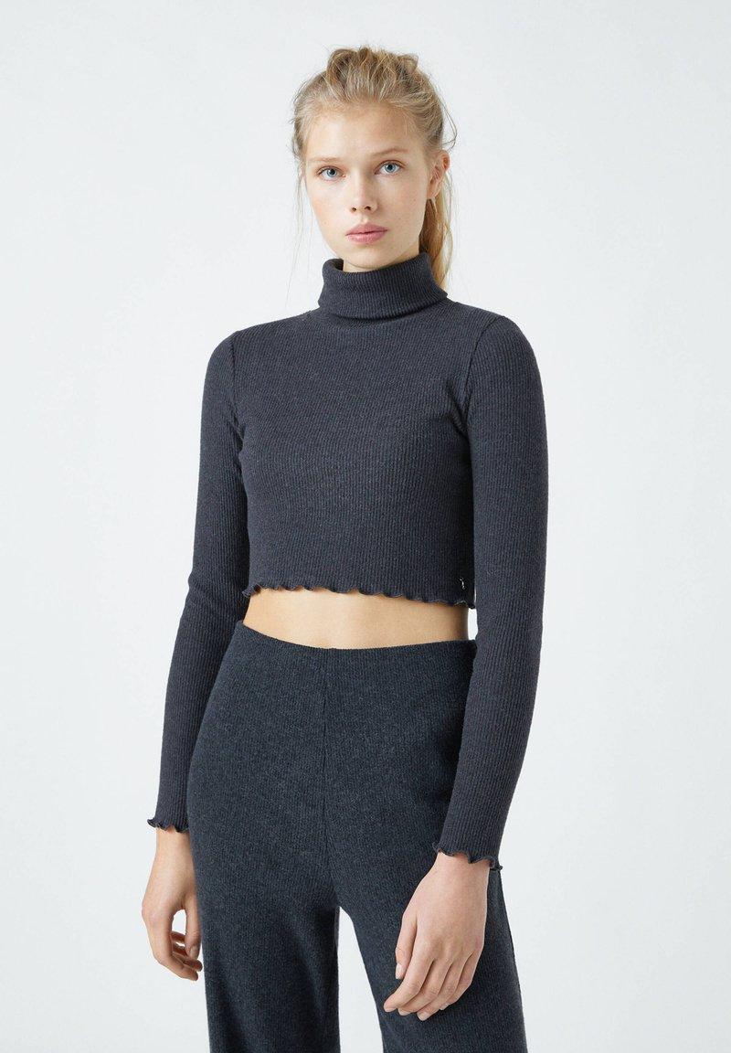 PULL&BEAR - Langærmede T-shirts - black