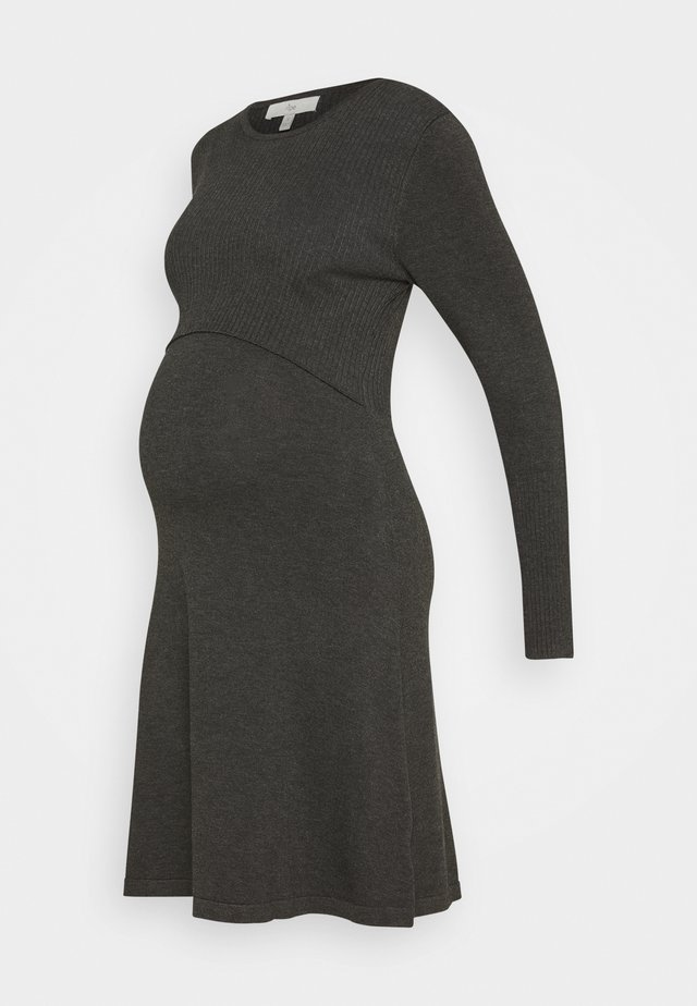 MOLLY NURSING DRESS - Jersey dress - charcoal marle
