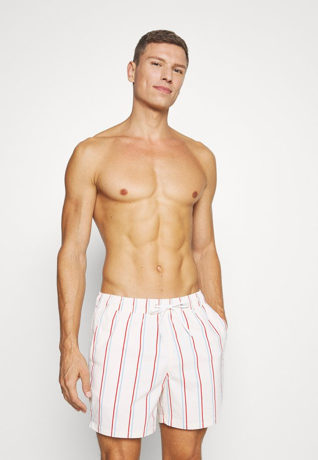 MULA STRIPE TRUNK - Swimming shorts - red/blue