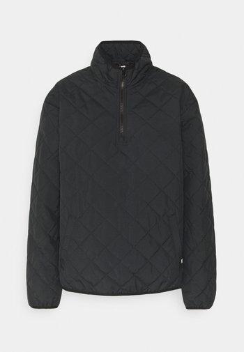 QUILTED V MOCK  - Light jacket - black