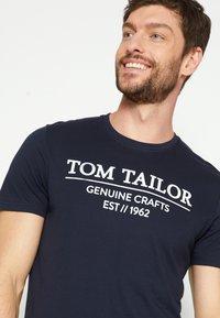 TOM TAILOR - Print T-shirt - sky captain blue - 3