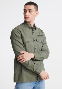 Superdry - SUPERDRY FIELD EDITION LONG SLEEVE SHIRT - Shirt - utility drab - 0