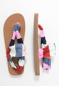 O'Neill - DITSY WRAP  - T-bar sandals - red/blue - 3