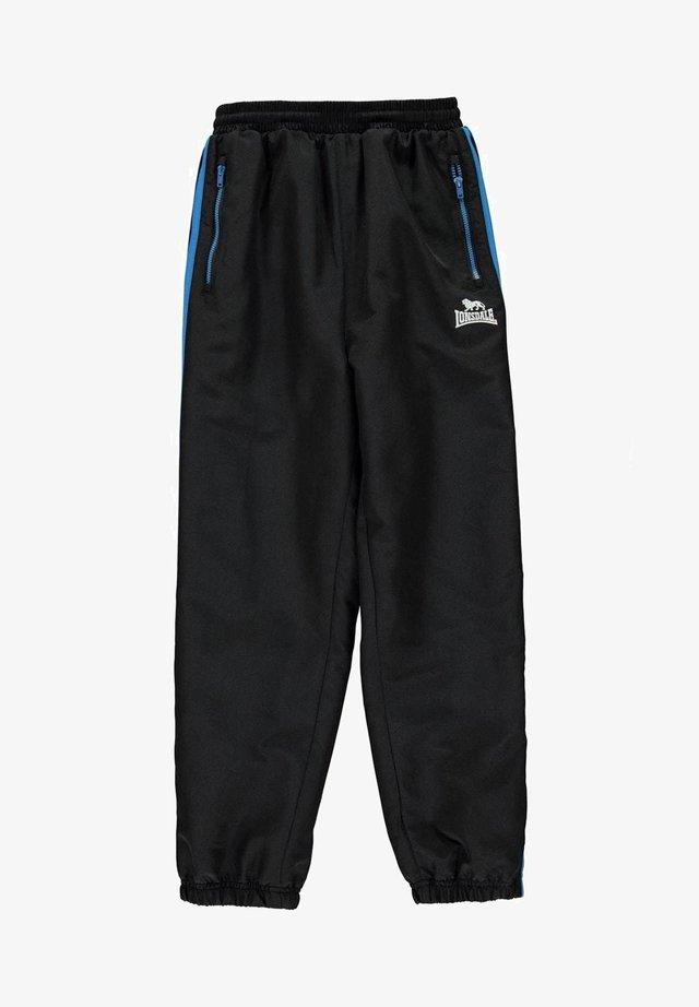 Pantalon de survêtement - schwarz/brblue/weiß