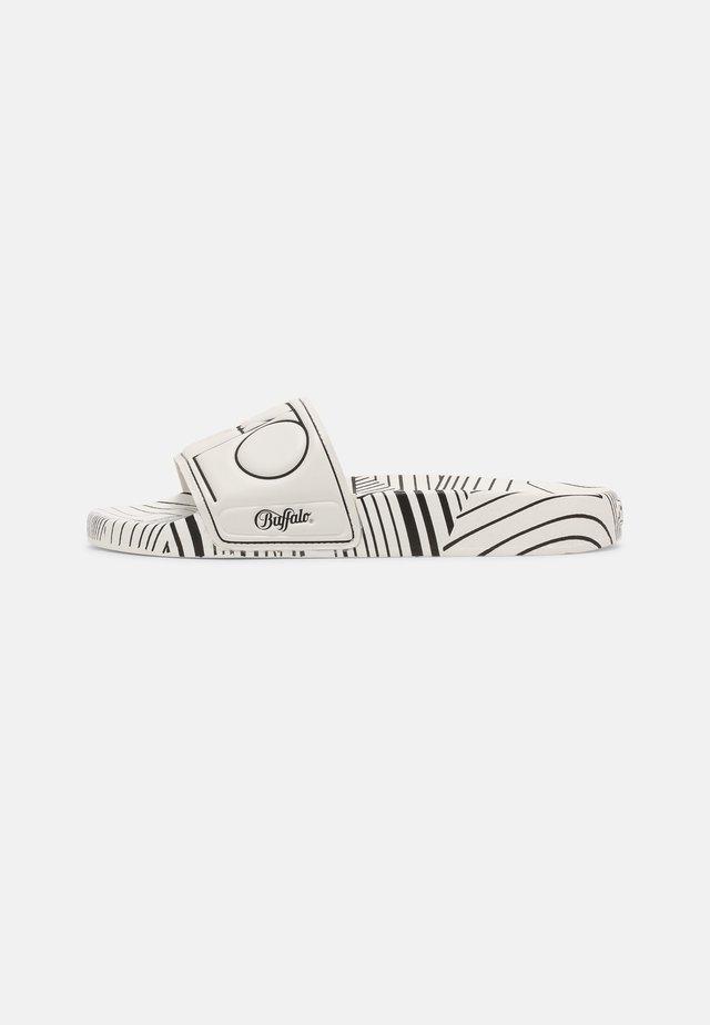 RONA - Sandały kąpielowe - white/black