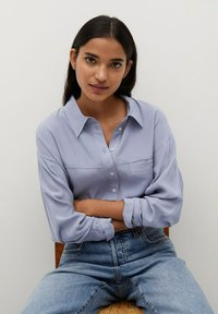Mango - LEONE - Button-down blouse - blau - 4