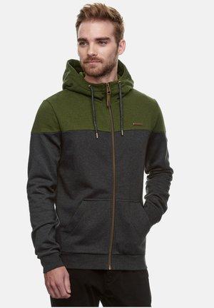 TOMMIE - Zip-up hoodie - olive