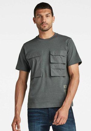 POCKET LOOSE - Print T-shirt - graphite