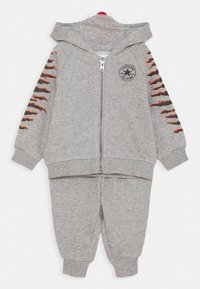 Converse - CREATURE HOODIE SET - Zip-up hoodie - dark gray heather/black - 0