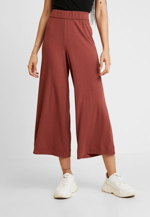 CILLA TROUSERS - Tracksuit bottoms - red medium dusty