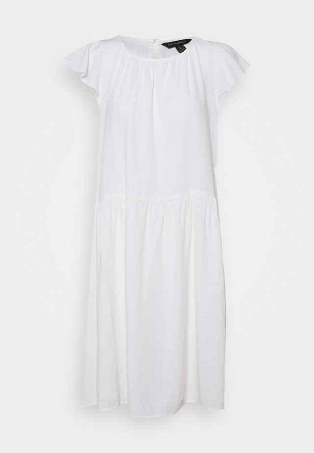 FLUTTER SHIFT DRESS - Vestito estivo - white