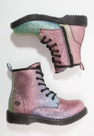 Lace-up ankle boots - multicolour