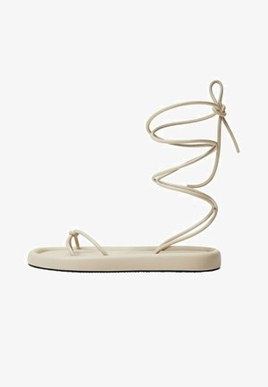 TIRAS CRUZADAS - T-bar sandals - blanco marfil