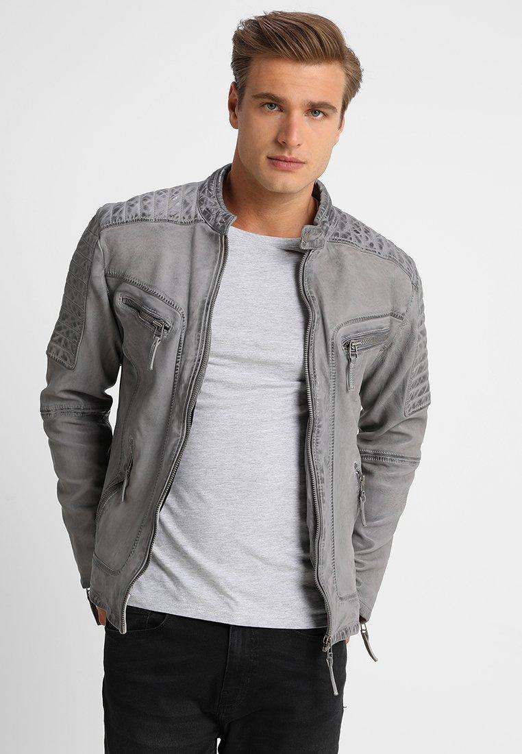 Freaky Nation - BEST BUDDY - Leather jacket - ash