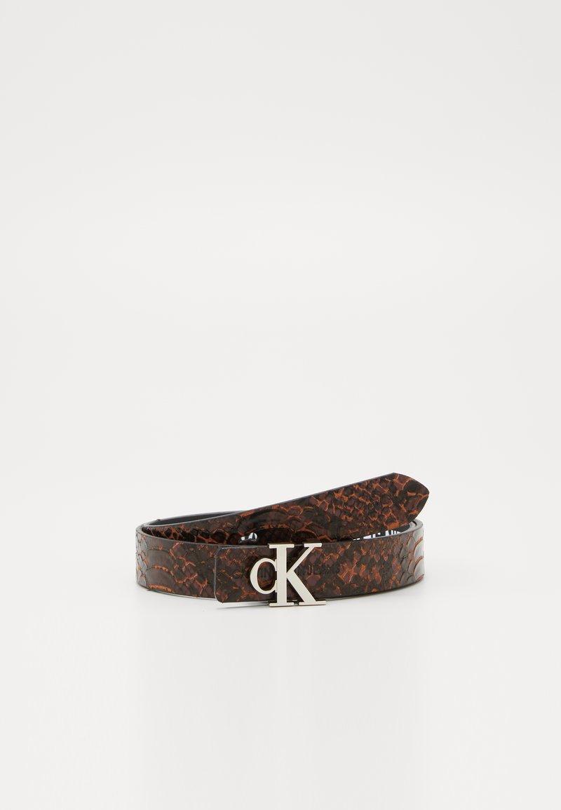 Calvin Klein Jeans - SKINNY MONO - Pasek - brown