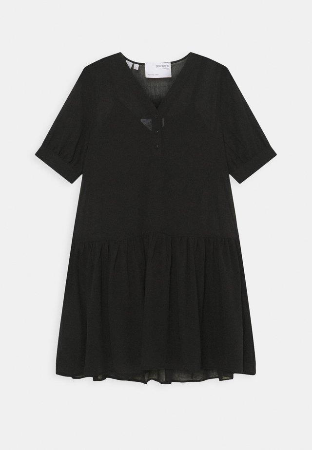 SLFABIGAIL SHORT DRESS - Sukienka letnia - black