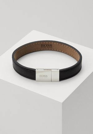 ESSENTIALS - Armband - black/silver-coloured