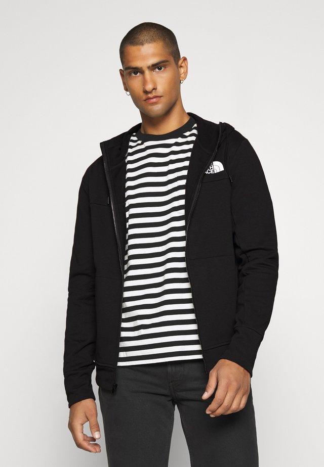 FULL ZIP HOODIE - veste en sweat zippée - black