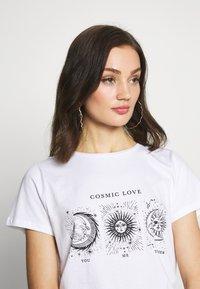 Noisy May - NMNATE SIGNS - Print T-shirt - bright white - 4
