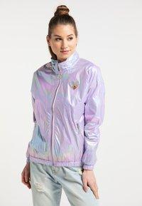 myMo - Regnjakke / vandafvisende jakker - lilac holographic - 0