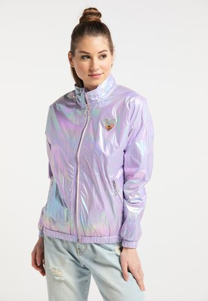 Waterproof jacket - lilac holographic