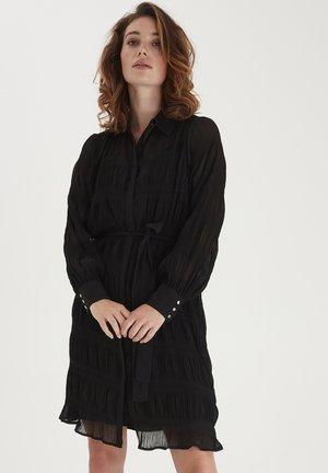 FRNAPLISSE - Vestido camisero - black