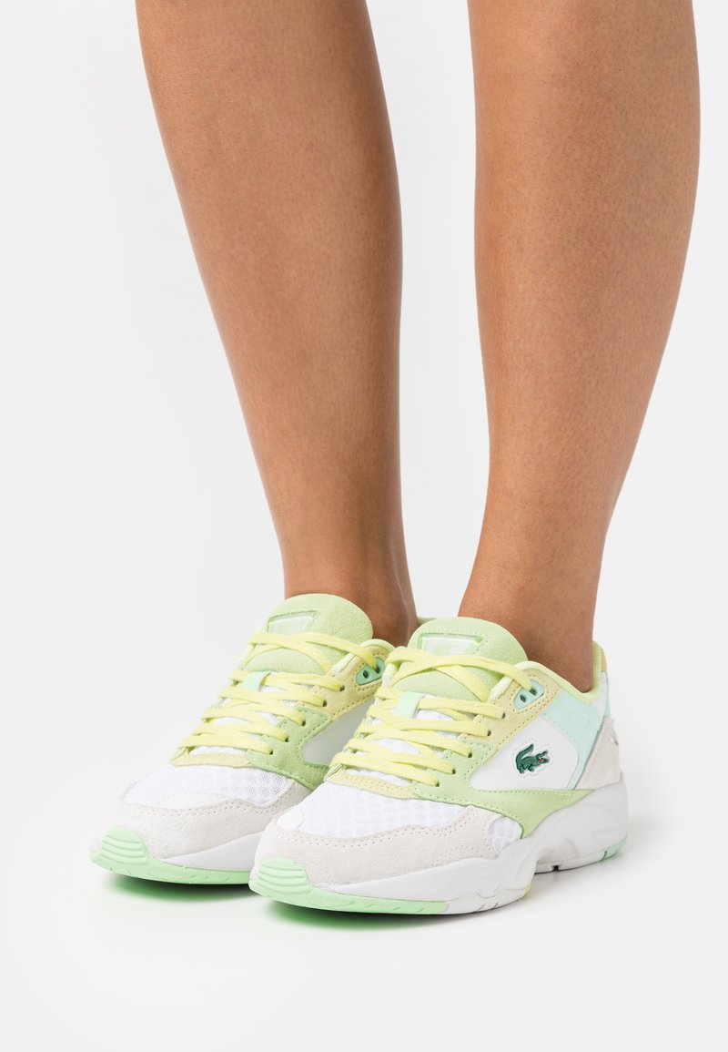 Lacoste - STORM  - Sneakers laag - white/light yellow